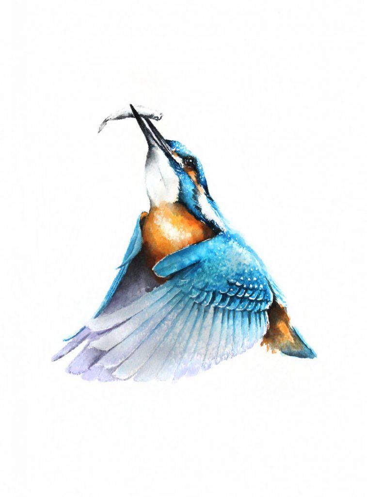 Bird Print Flight Of Seagulls In Midair Birds Peinture Oiseau