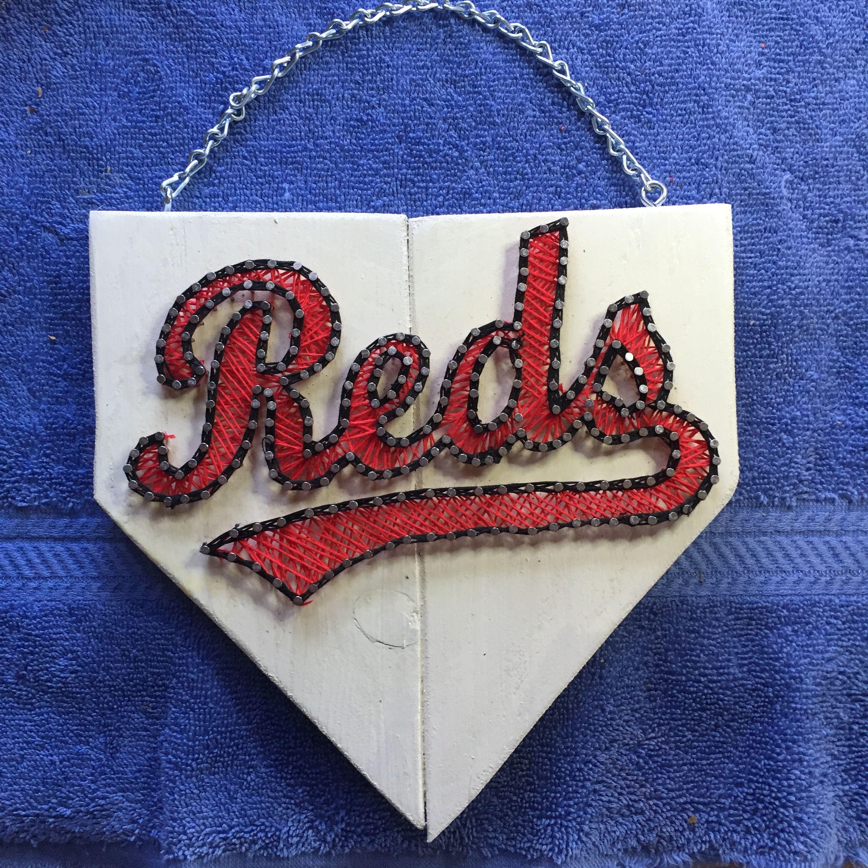 Cincinnati Reds Home Plate String Art Created
