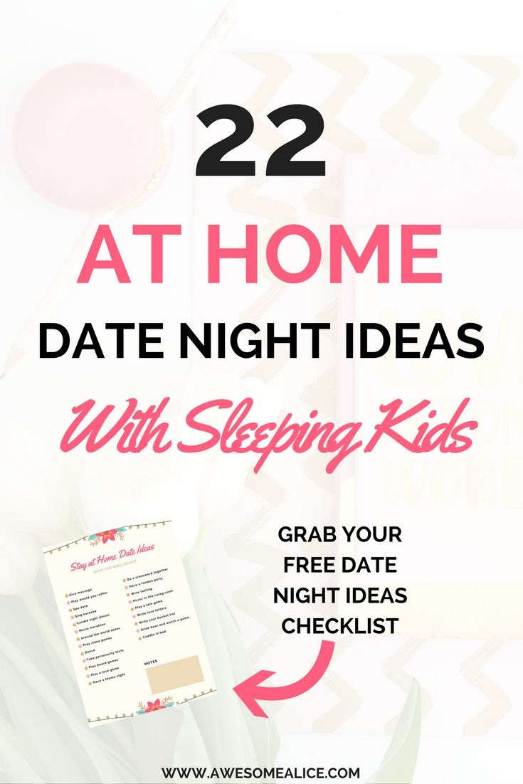 Free checklist 22 at home date night ideas with sleeping kids ...