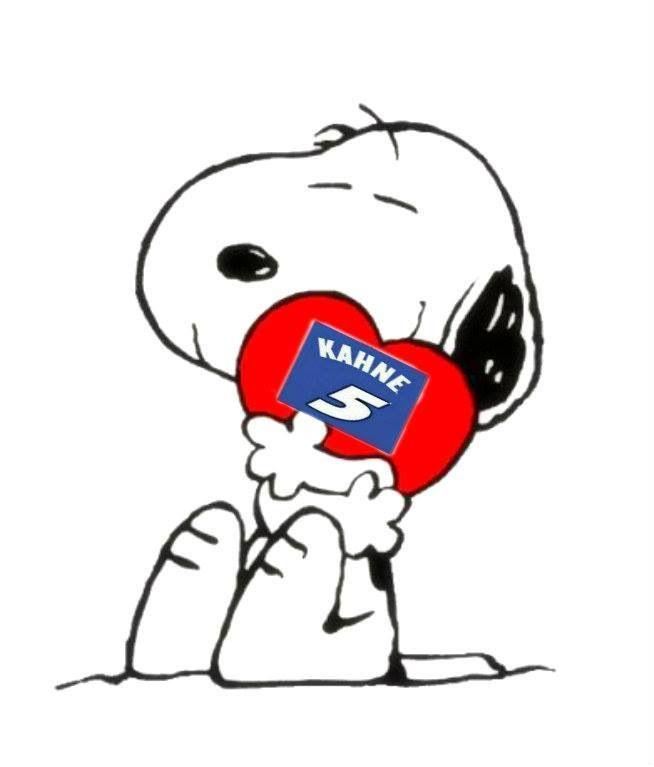 Kasey Kahne Snoopy Valentine Snoopy Love Snoopy Hug