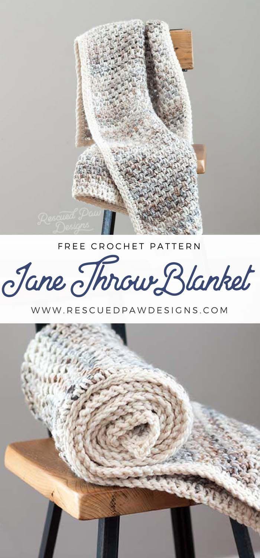Jane Throw Blanket Pattern - Easy Crochet Blanket | Kuschelecke ...
