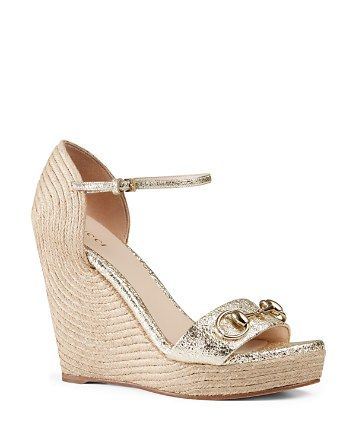 0bf056d9751 Gucci Carolina Wedge Sandals - Bloomingdale s