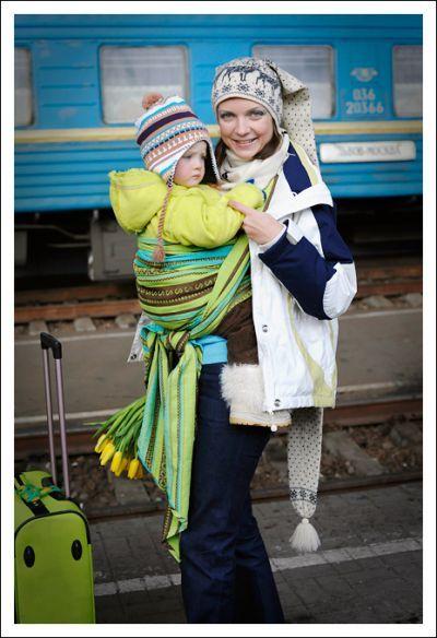 Zara Tri Green Ellevill Wraparound Baby Carrier (With ...