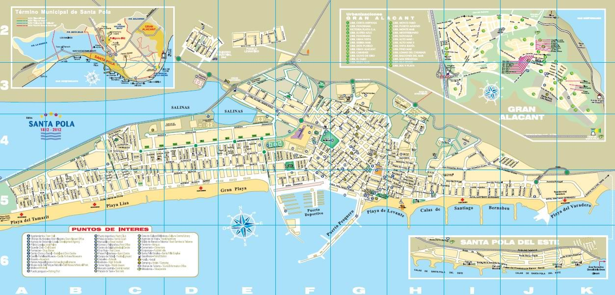 Mapa De Santa Pola.Plano Callejero De Santa Pola En 2019 Planos Santos Y