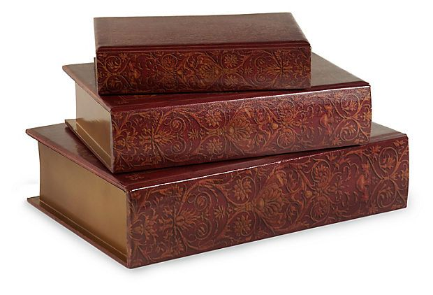 Nesting Wooden Book Boxes, Asst. of 3 on OneKingsLane.com