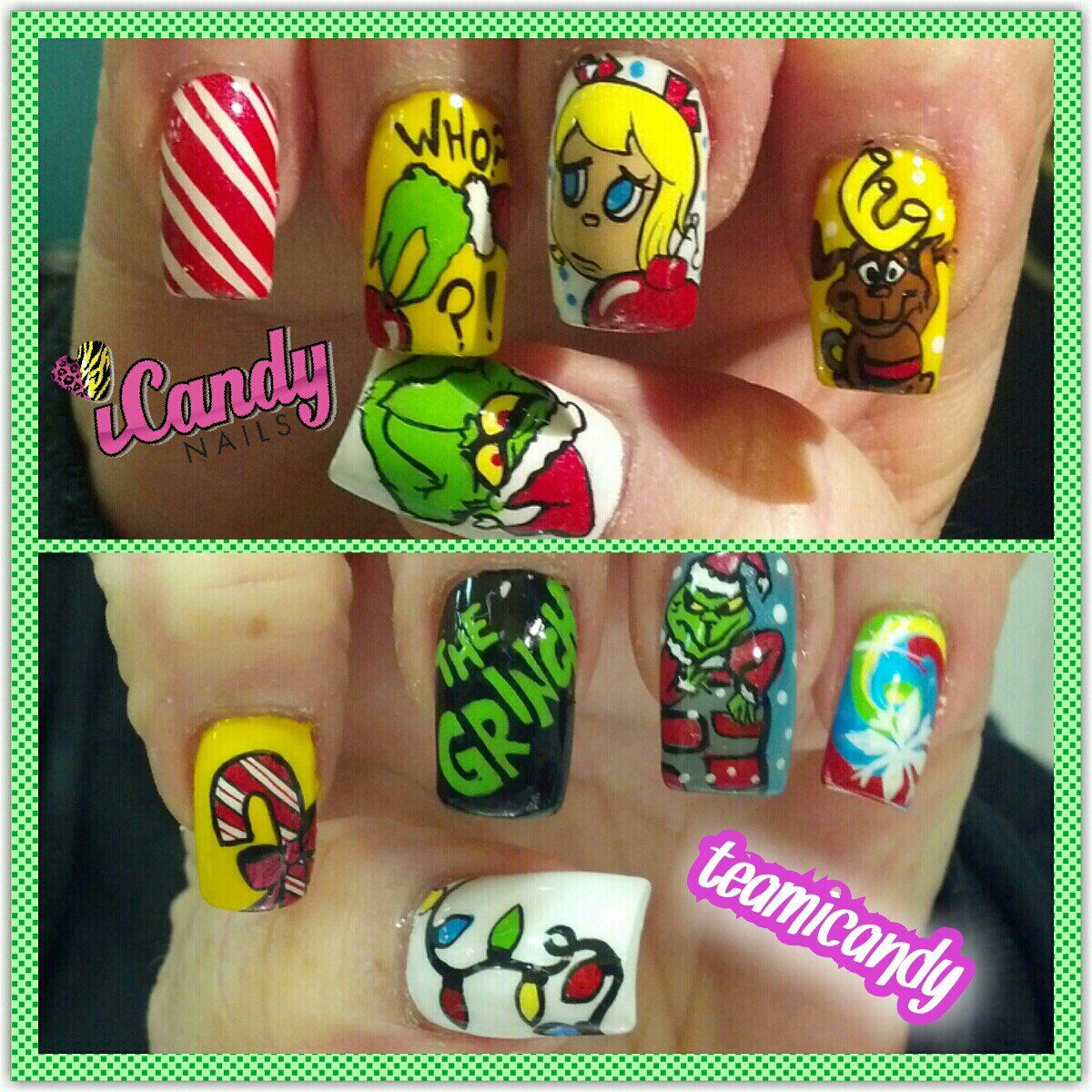 The Grinch who stole Christmas | Nails | Pinterest
