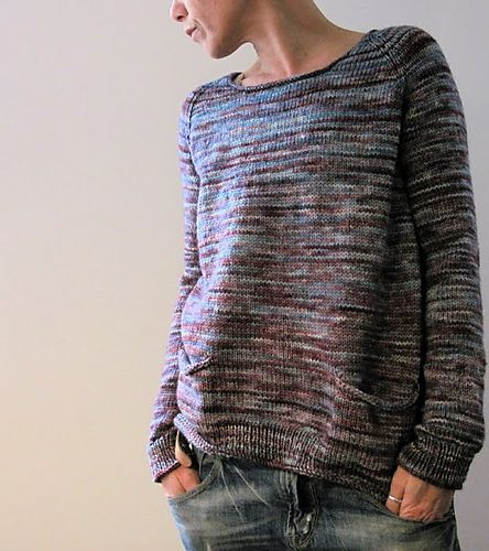 Cushman RAGLAN PULLOVER WITH POCKETS Designed by Isabell Kraemer | Rios in Lotus
