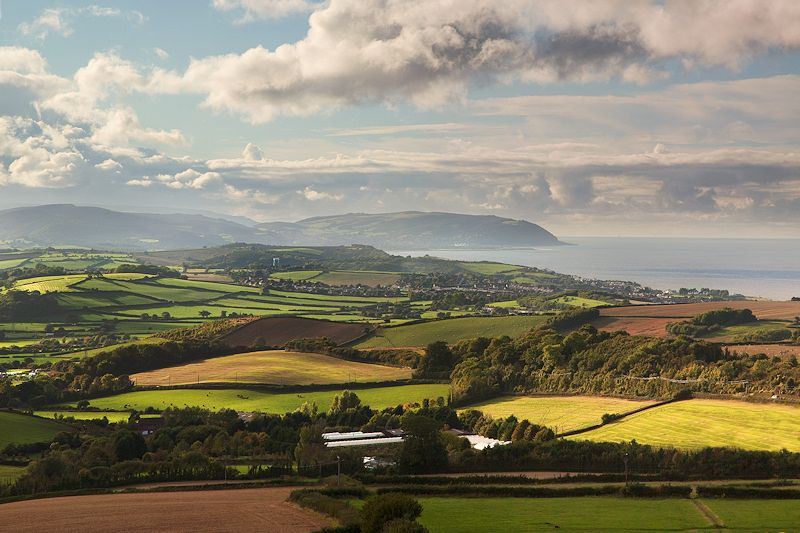 Quantock Hills Somerset Landscape Bristol Channel