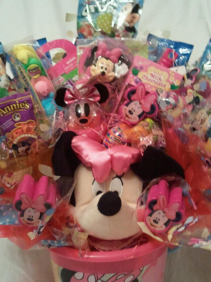 Minnie mouse easter basket bouquet delicatesweetcreations minnie mouse easter basket bouquet delicatesweetcreations negle Choice Image