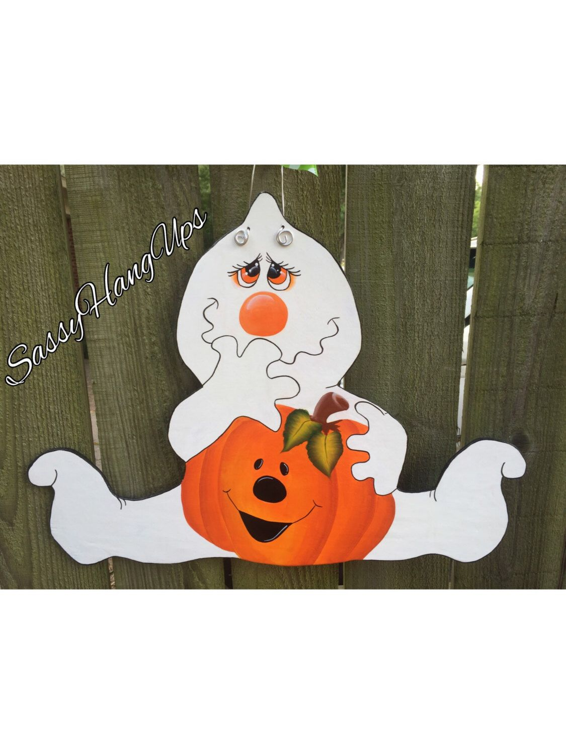 Ghost Door Decoration & Halloween Door Hanger Ghost Door