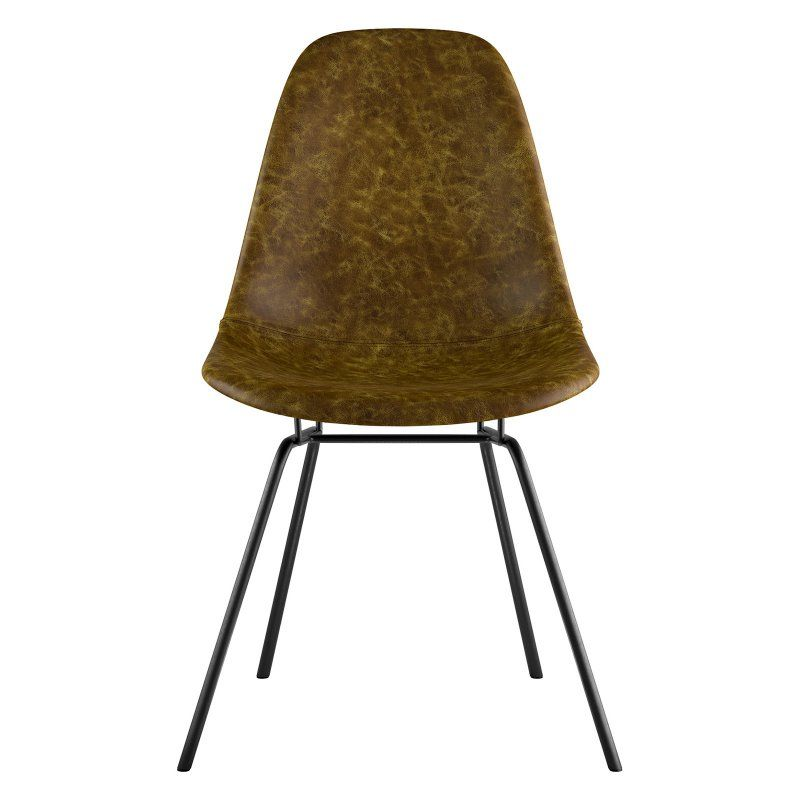 Nyekoncept Mid Century Classroom Dining Side Chair Palermo Olive - 331012CL2