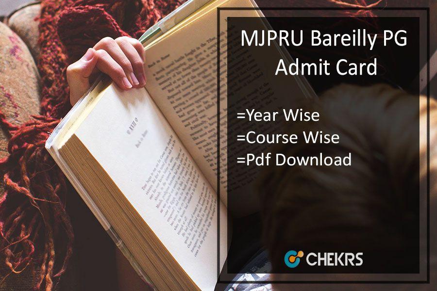 Mjpru Pg Admit Card 2018 Rohilkhand Ma Msc Mcom Previous Final Admit Card Entrance Exam Exam Msc