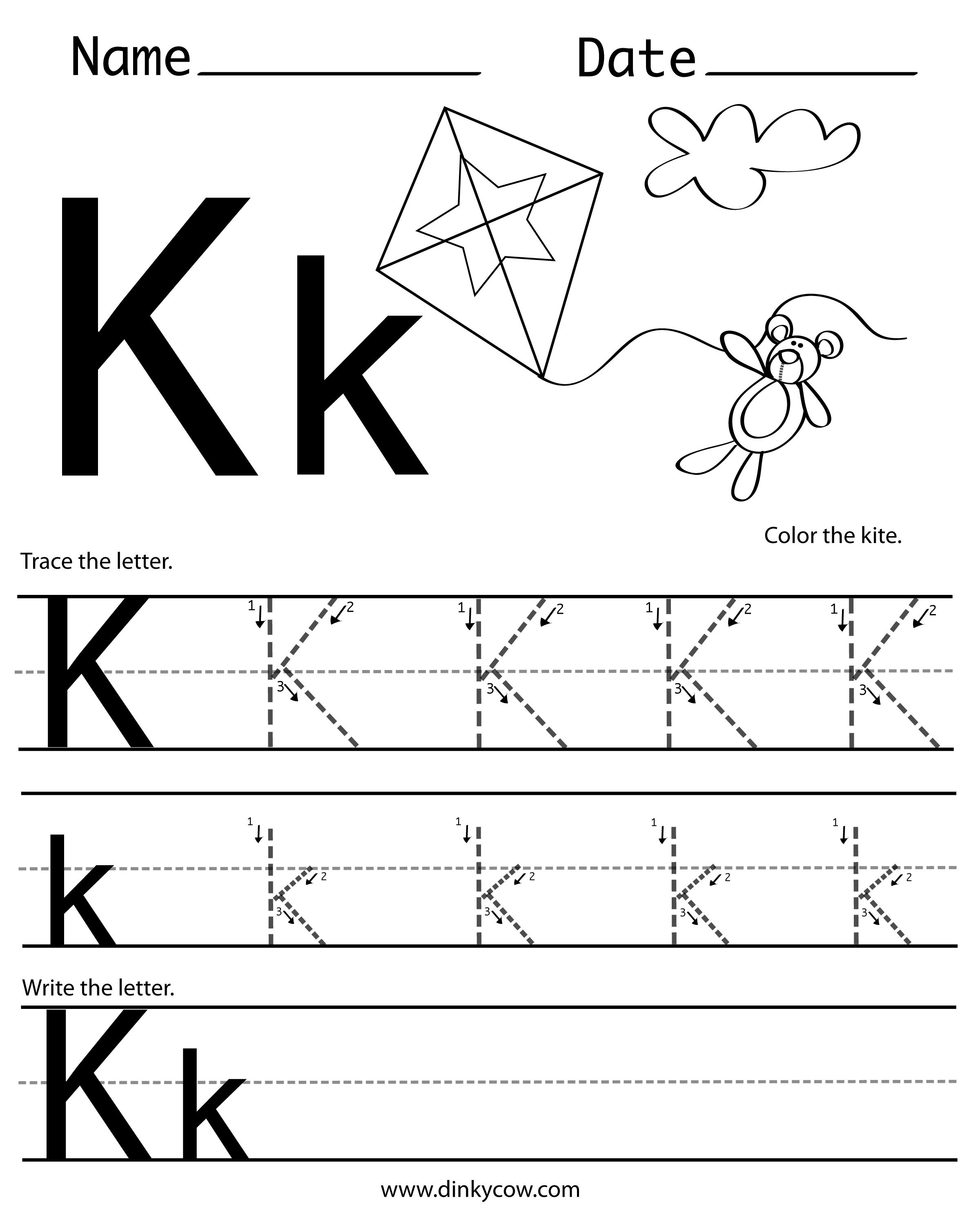 letter k worksheets pin by mareese on tracing free handwriting worksheets 4045