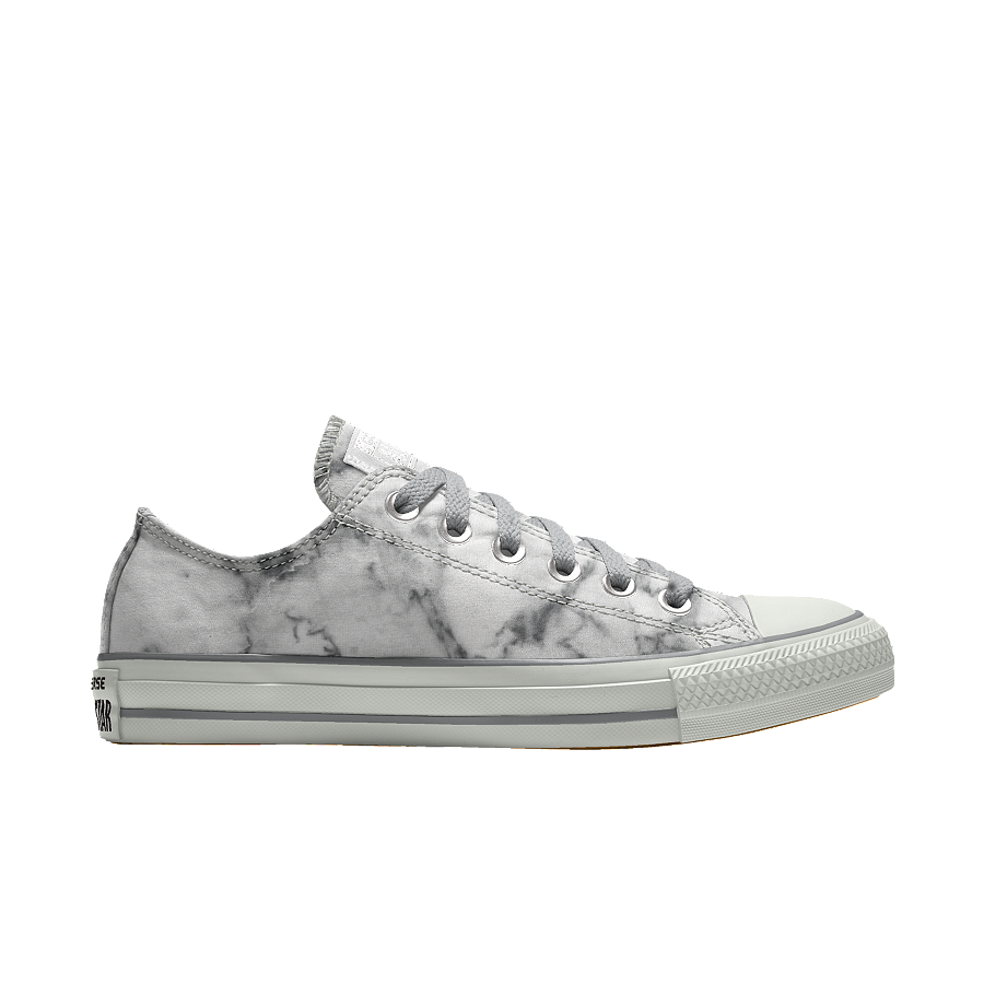 custom chuck taylor in white/grey marble