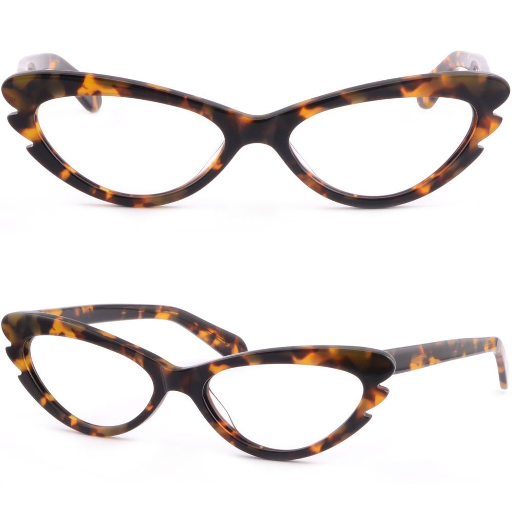 Small Women Cat Eye Acetate Frame Prescription Glasses Spring Load ...