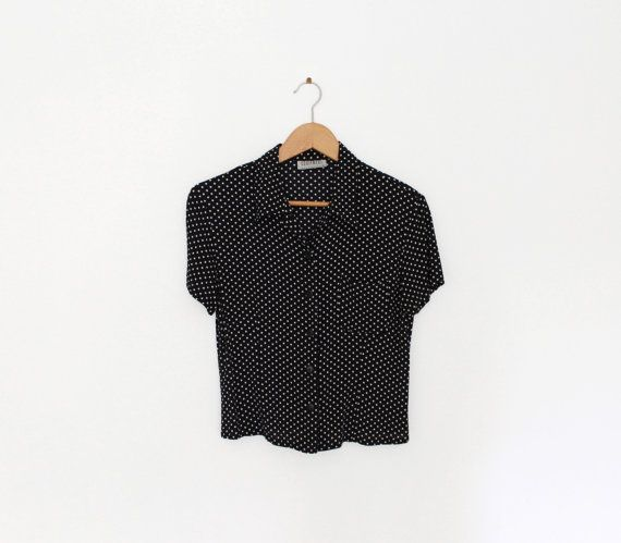 Hey, I found this really awesome Etsy listing at https://www.etsy.com/listing/202859676/black-and-white-polka-dot-shirt
