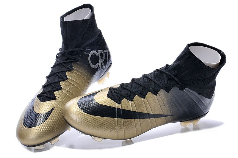Retail Nike Mercurial Superfly CR7 FG Gold Black $103.99