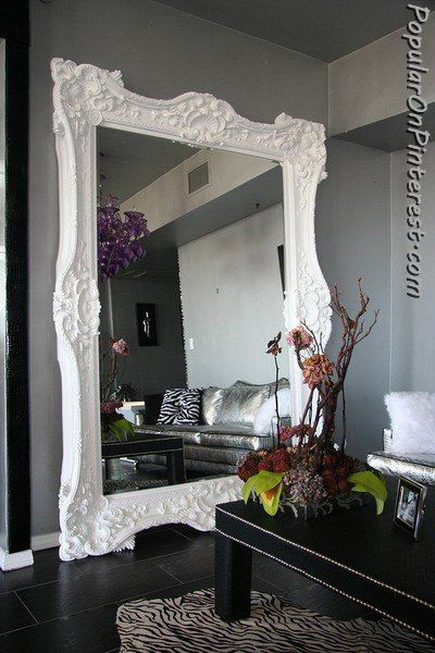 wow wow wow I would love this giant mirror in my living room or - schlafzimmer barock