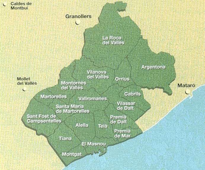Mapa Do Alella Vinos Paisajes De Espana Vino