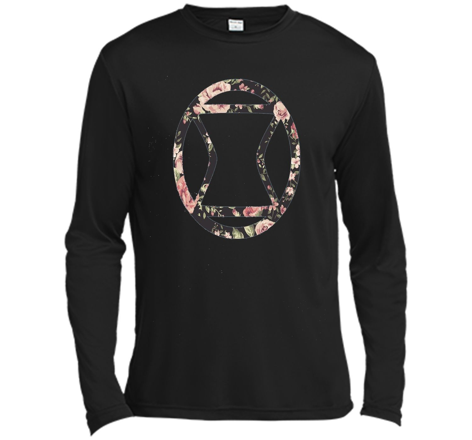 Black Widow Floral Graphic T-Shirt