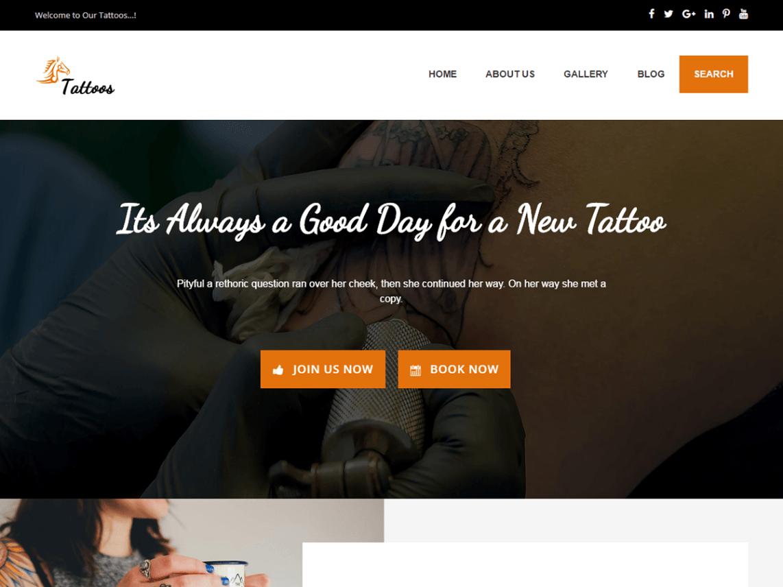 Tattoo Artist is an interesting and flawless WordPress topic ...