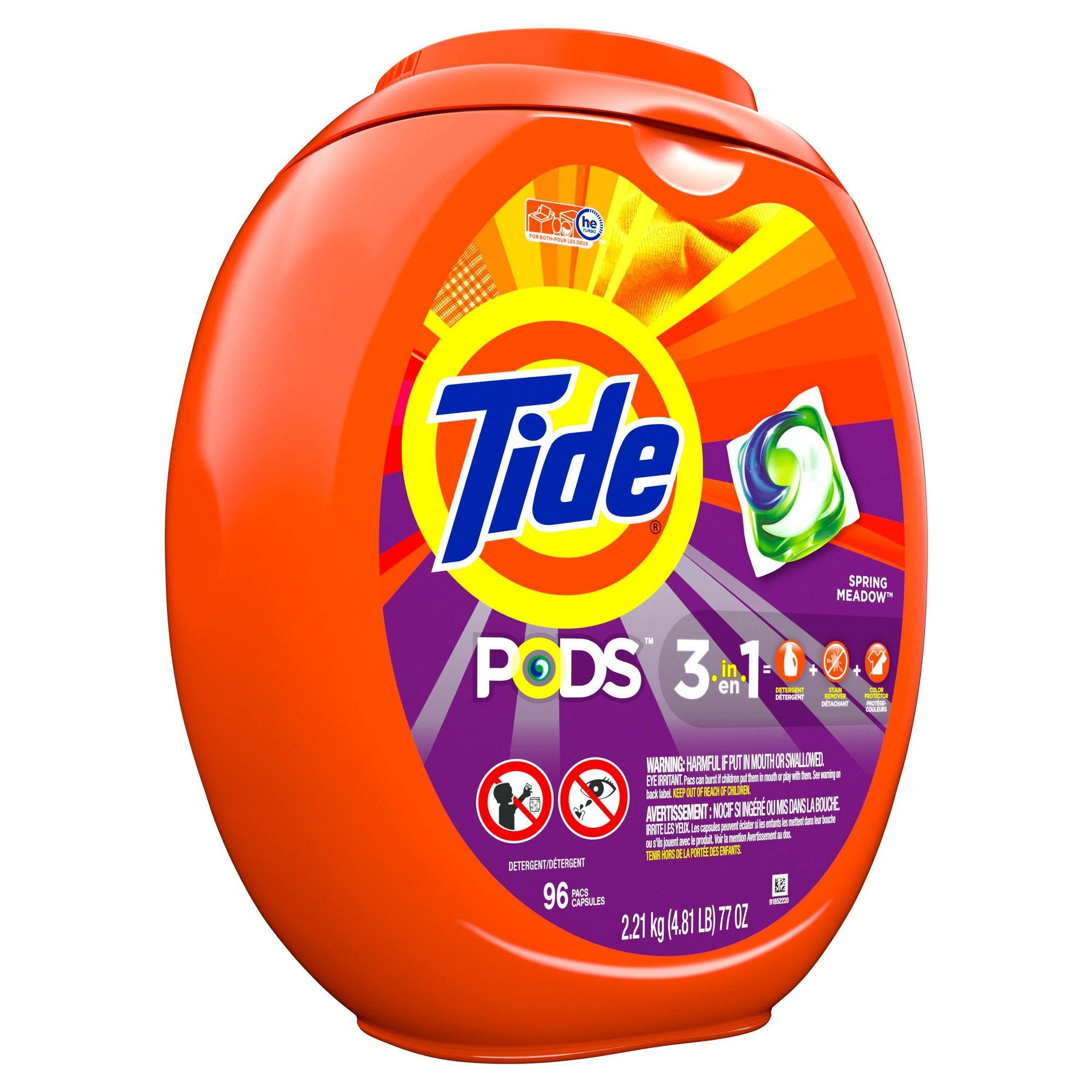 Tide Pods Laundry Detergent Pacs Spring Meadow 96ct In 2019