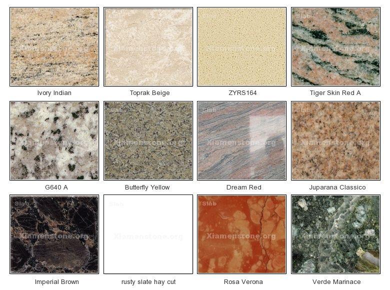 types of granite - Google Search