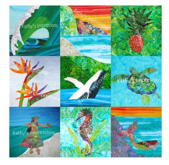 Complete Set of all (15) HAWAII ANA QUILT Batik Tropical Art Applique Patterns