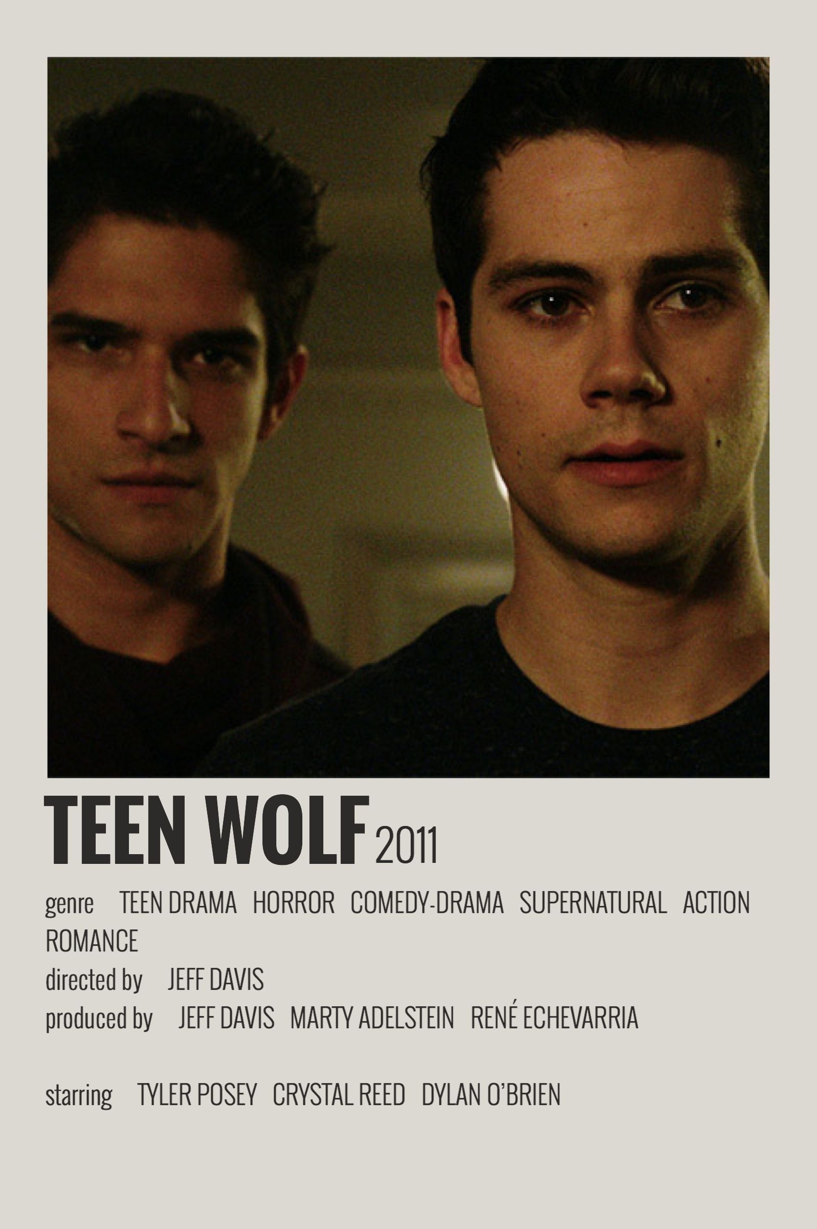 Photo of Alternative Minimalist Movie/Show  Polaroid Poster – Teen Wolf –