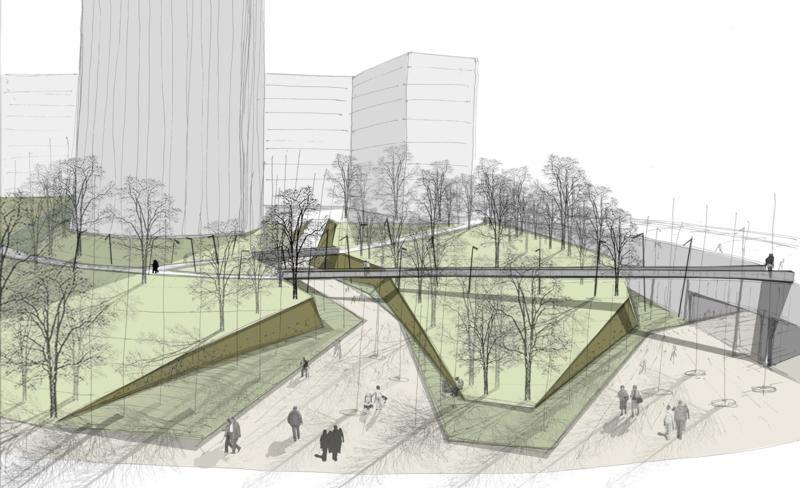 Dise o de parques urbanos buscar con google ideas - Paisajismo urbano ...