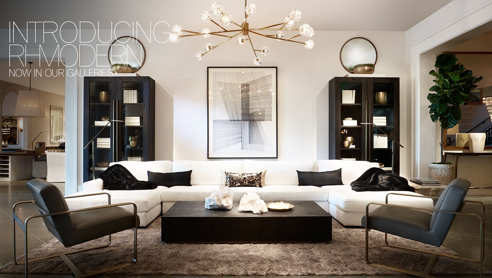 Introducing Rh Modern Now In Our Galleries Living Rooms Pinterest