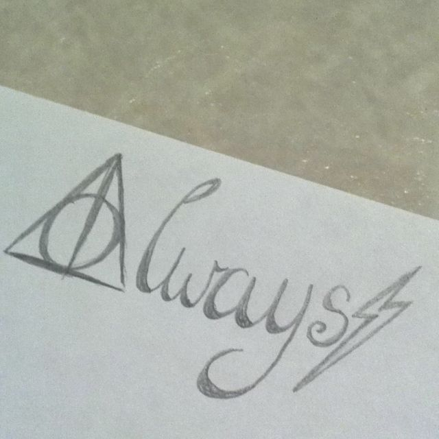 Always Tattoo I Just Drew Up Getting This For Sure On My Shoulder Maybe Or Foot What Do You Think Harry Potter Tattoos Always Tattoo Harry Potter Tattoo