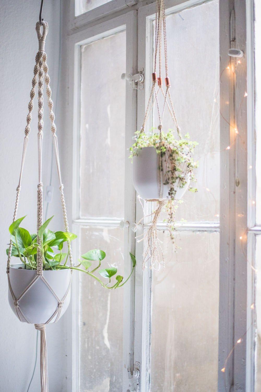 Easy homediy macrame plant hanger tutorial