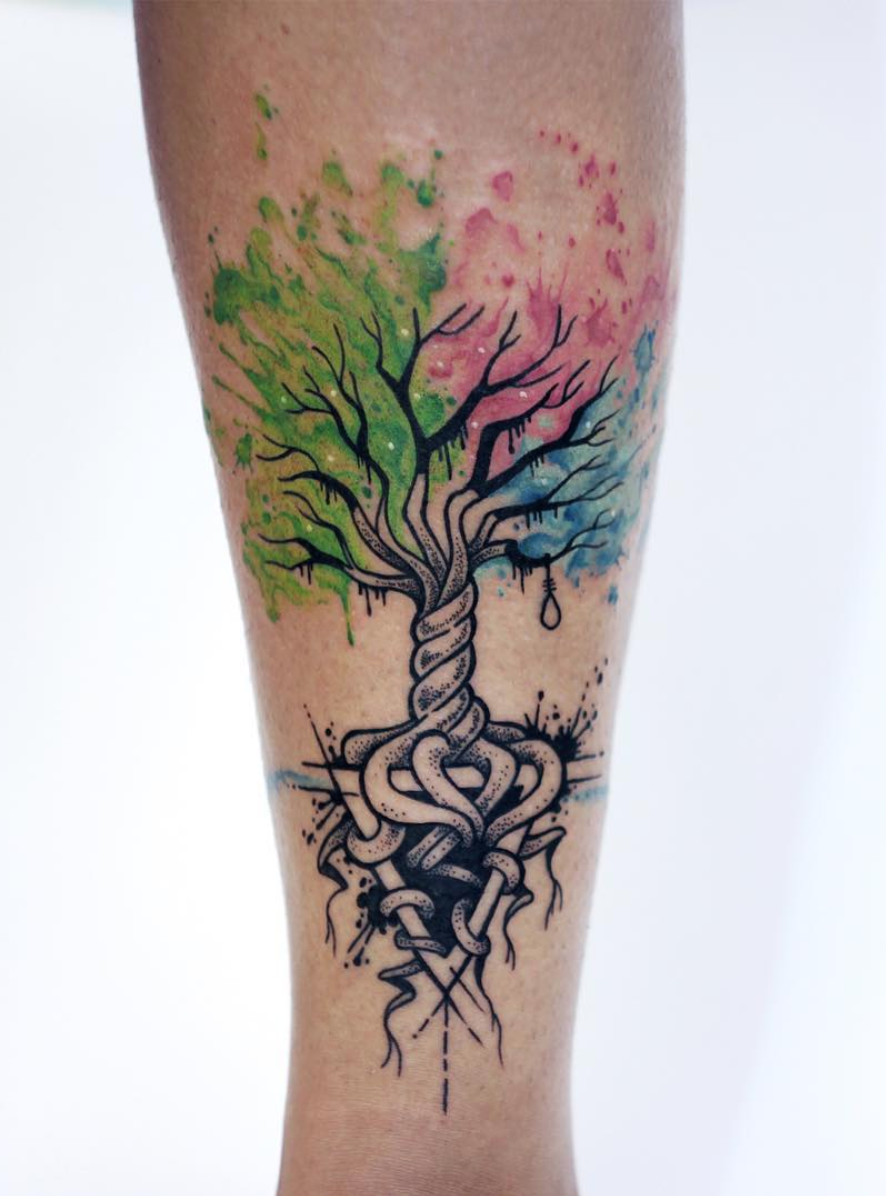 Small Jacaranda Tattoo: Break Up Tattoo Ideas Tree Of Life