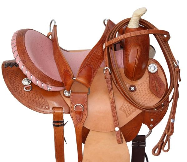 Barrel Racing Saddle Pink Ostrich Seat | Barrel Racing Saddles