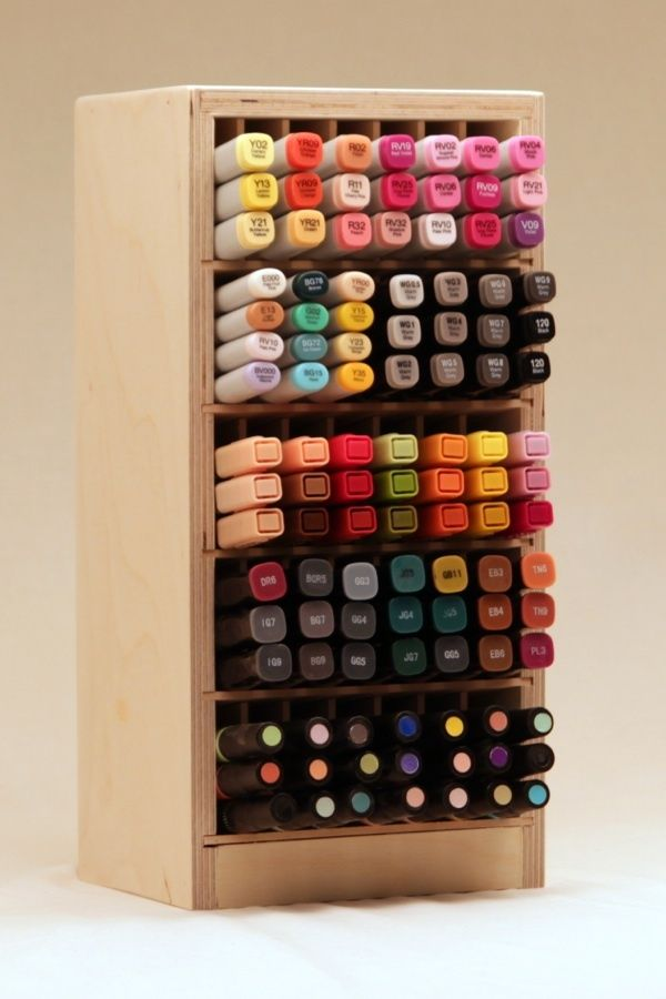 Stacked Marker Holder Marker Storage Craft Room Organisation Scrapbook Storage