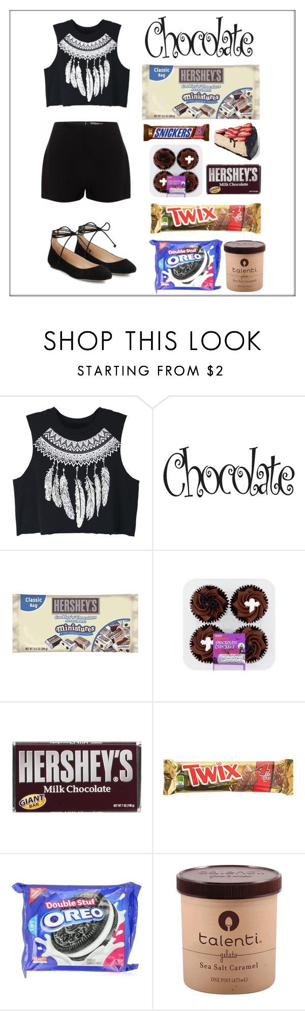 """chocolate"" by anahitaho ❤ liked on Polyvore featuring WithChic, Alexander McQueen, Hershey's and Karl Lagerfeld"