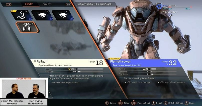 Anthem Loadouts And Gearing Guide Updated March 2019 Anthem