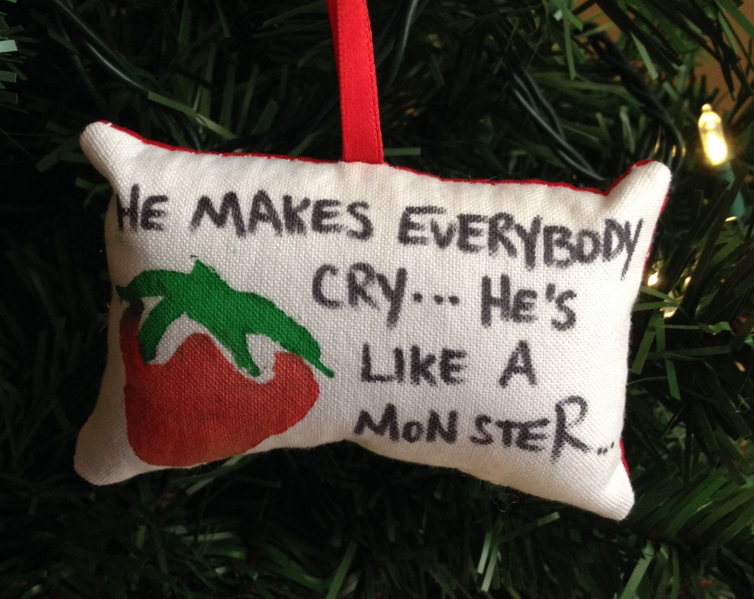 Strawberry christmas ornaments - Kaylee Strawberry He Makes Everybody Cry He S Like A Monster Christmas Ornament Firefly Serenity Browncoat