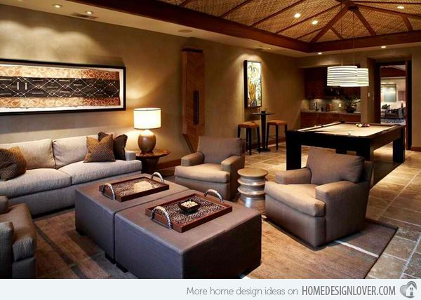 Basement Living Room Designs Prepossessing 17 Awesome African Living Room Decor  African Living Rooms Room Design Ideas