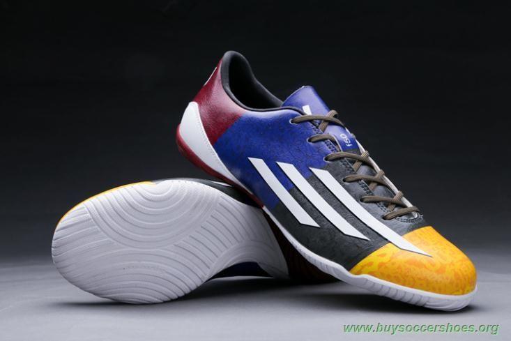 Yellow/White/Red ADIDAS ADIZERO F50 IC Messi Soccer Cleats