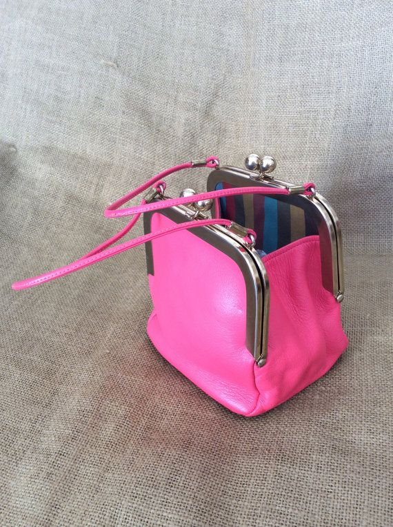 RARE Genuine vintage Bonnie Cashin pink by VintageLeatherPurses