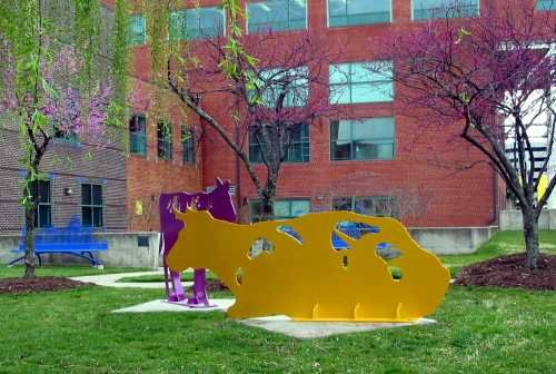 Laser Cut Aluminum Public Art Sculpture By Artist Jim