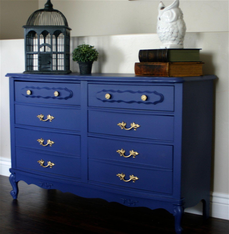 blue french provincial dresser. by ModernRefinement on ...