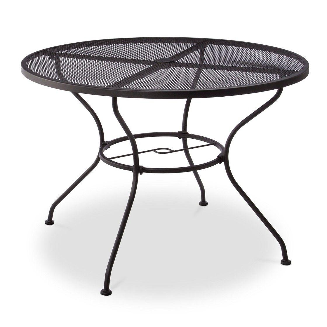 Hamlake Wrought Iron Round Patio Dining Table Round