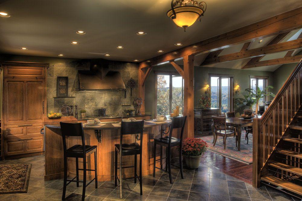 Mountain Style Home. Custom Kitchen by SteinerHouck
