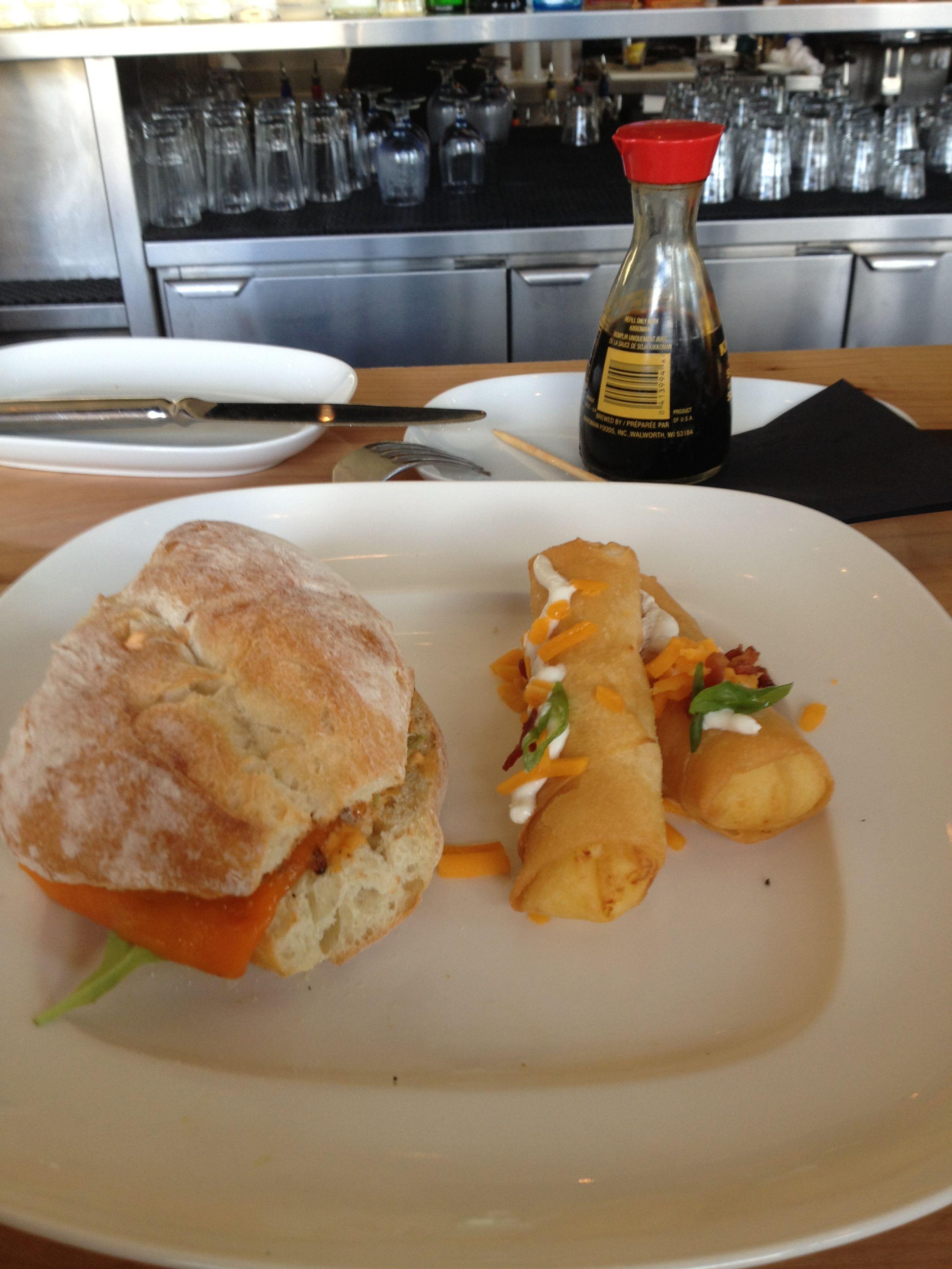 California sandwich with crispy mash potatoes!!