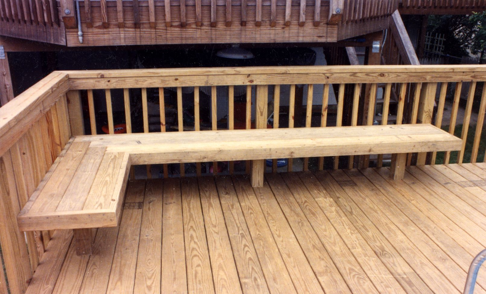 Built In Deck Seating As Railing Google Search Deck Seating