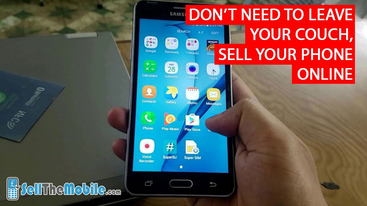 Don't need to leave your couch, sell your phone online