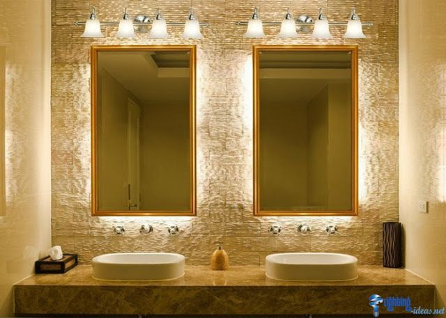 افكار ديكور لبمات اضاءة جدارية داخلية الإبتكار نواة التميز Banyo Tasarimi Banyo Tasarim